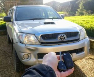 Toyota hilux new flip key for spare.