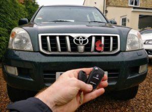 Toyota Land Cruiser new flip key for spare.
