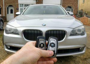 BMW series 7 2012 spare key programmed
