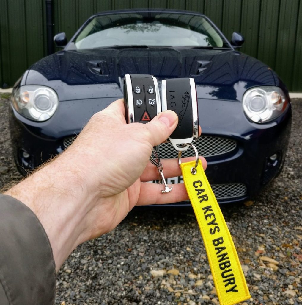Jaguar XK spare key programmed