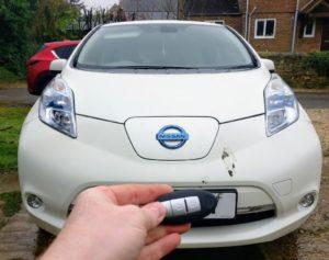 Nissan Leaf lost all keys. new smart key programmed, emergency key blade cut.